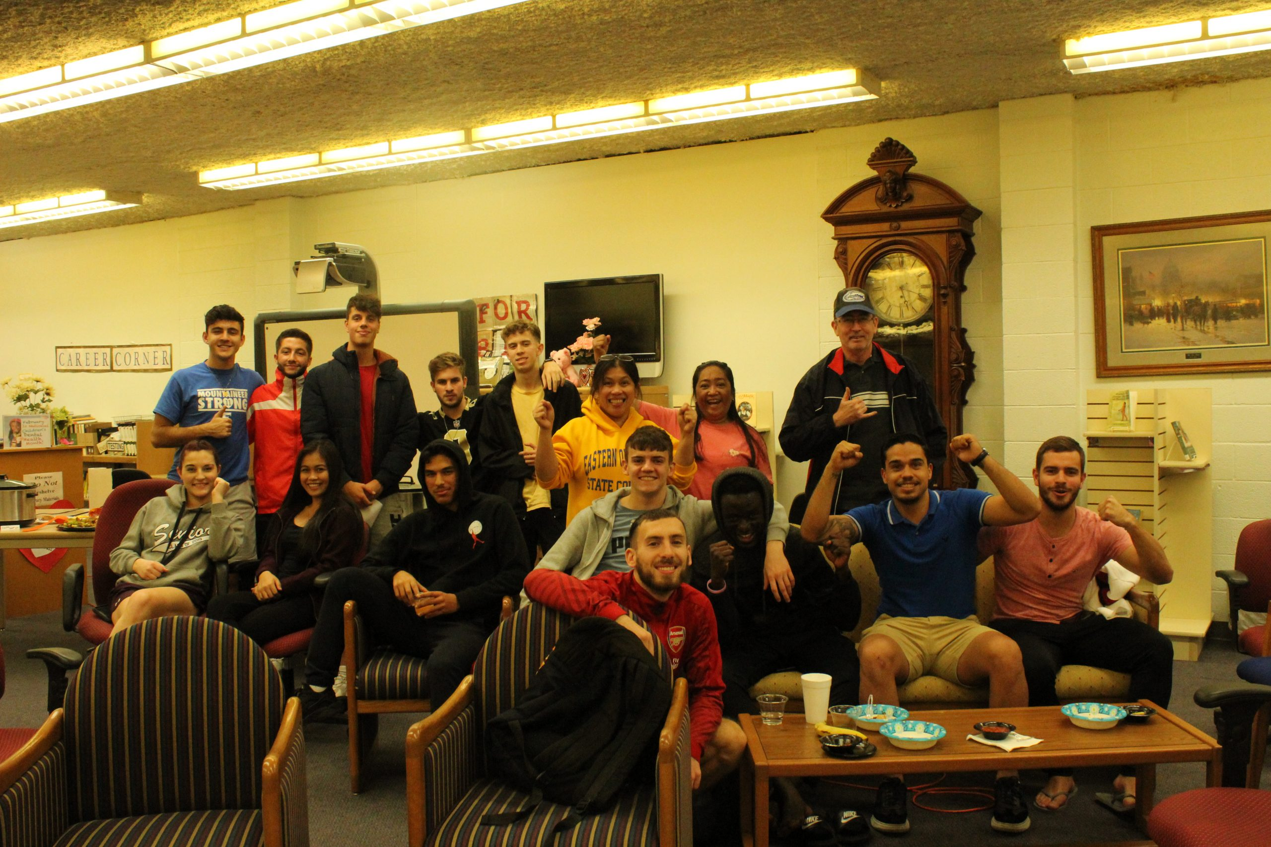Library Hosts Super Bowl Party